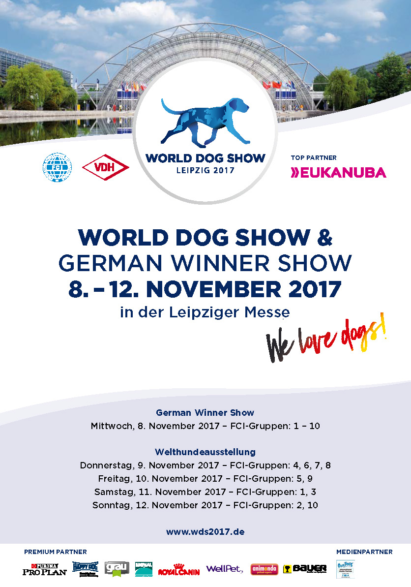 World Dog Show und German Winner Show November 2017 in Leipzig